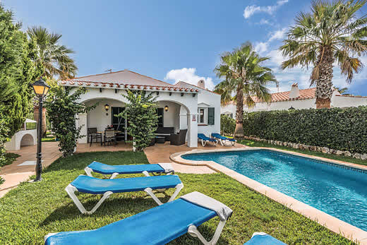 £444.00 for Menorca self catering holiday