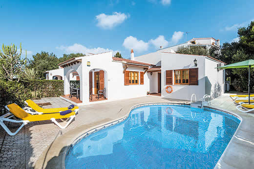 £316.00 for Menorca self catering holiday villa