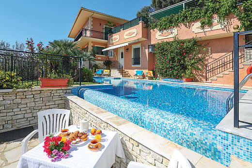 £412.00 for Corfu self catering holiday