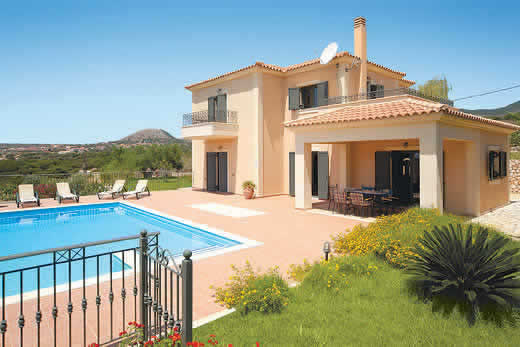 Holiday villa offer for Kefalonia with swimming pool