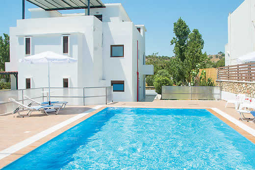 £1040.00 for Rhodes self catering holiday