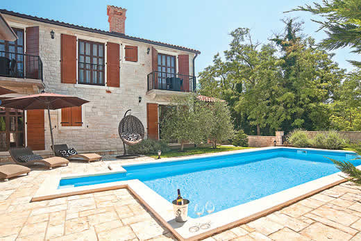 Enjoy a great self catering holiday villa in Istria