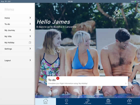 travellers app iPad image